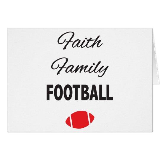 Glauben-Familien-Fußball für Fans Grußkarte