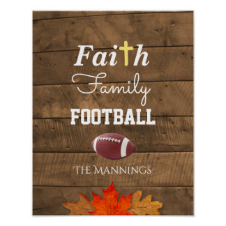 Glauben-Familien-Fußball-personalisiertes Poster