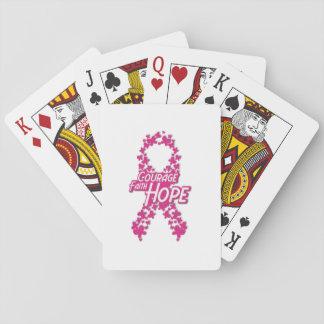 Glauben-Hoffnungs-Brustkrebs-Bewusstsein Spielkarten
