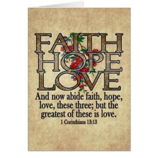 Glauben-Hoffnungs-Liebe-eleganter BibelScripture Karte