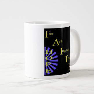 Glauben-Hoffnungs-Liebe Jumbo-Tasse
