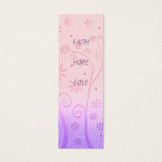 Glauben-Hoffnungs-Liebe - Lesezeichen Mini Visitenkarte