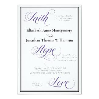 Glauben-Hoffnungs-Liebe-würdevolle Karte