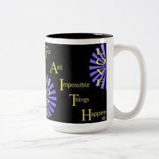 Glauben-Hoffnungs-Liebe Zweifarbige Tasse