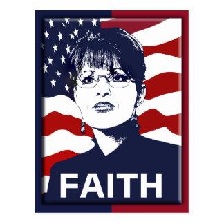 Glauben-Postkarte Sarahs Palin