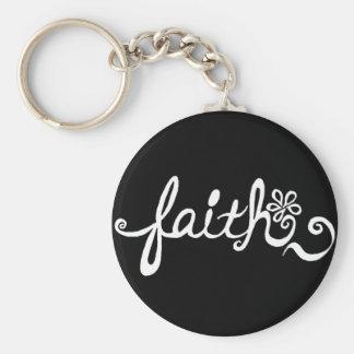 Glauben-Rückseite Schlüsselanhänger