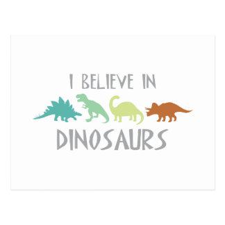 Glauben Sie an Dinosaurier Postkarte