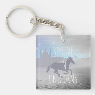 Glauben Sie an Einhörner Schlüsselanhänger