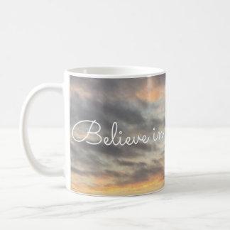 Glauben Sie an Jesus u. beten Sie Tasse