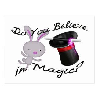 Glauben Sie an magischen Zylinder u. Kaninchen Postkarte