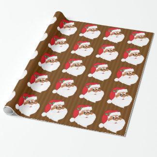 Glauben Sie an schwarzen Weihnachtsmann? Geschenkpapier
