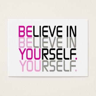 """""""Glauben Sie an selbst"""" Zitat Visitenkarte"""