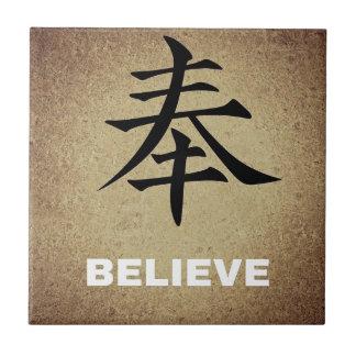 Glauben Sie chinesischem Schriftzeichen Keramikfliese