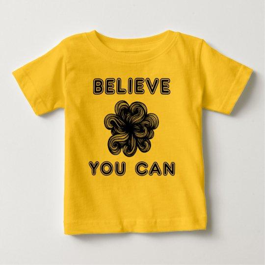 """""""Glauben Sie, dass Sie"""" Baby-feiner Jersey-T - Baby T-shirt"""