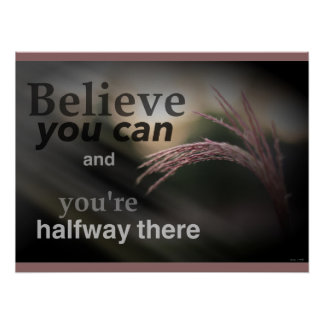 Glauben Sie, dass Sie Klassenzimmer-Plakat können Poster