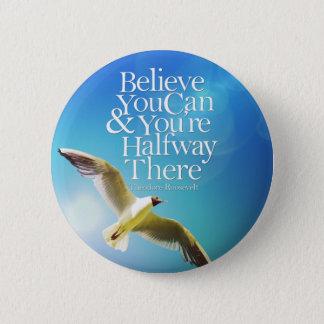 Glauben Sie, dass Sie Seemöwe-hochfliegendes Runder Button 5,7 Cm