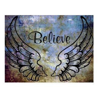 Glauben Sie - Engels-Flügel-himmlischer Postkarte