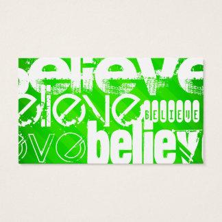 Glauben Sie; Grüne Neonstreifen Visitenkarte
