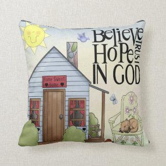 Glauben Sie Hoffnungs-Vertrauen im Kissen