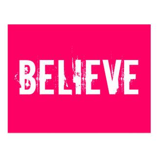 Glauben Sie - inspirieren Sie, motivieren Sie, Postkarten