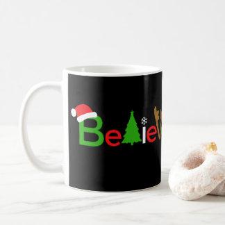 Glauben Sie WeihnachtsTasse Kaffeetasse
