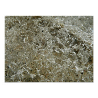 Glazial- Eis-abstrakte Natur Texturentwurf Poster