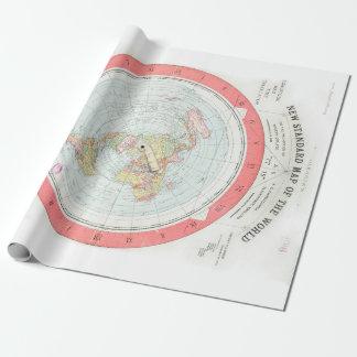 """Gleasons """"NEUE STANDARDkarte von der WELT"""" Geschenkpapier"""
