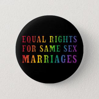 Gleiche Rechte für gleichgeschlechtliche Heiraten Runder Button 5,1 Cm