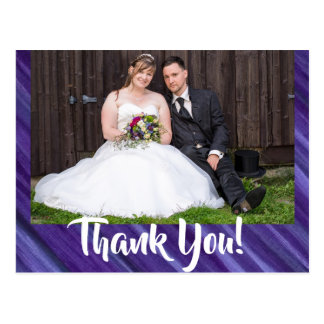 Gleichgültig danke | königliche lila violette postkarte