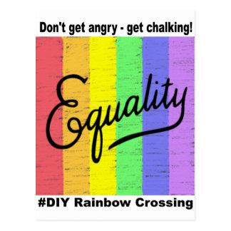 Gleichheit #DIY Regenbogen - Postkarte 2