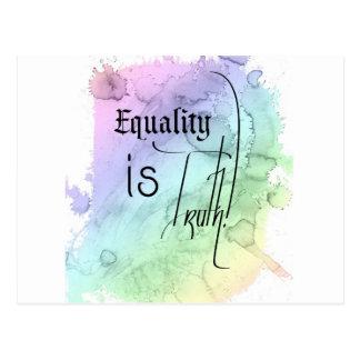 Gleichheit ist Wahrheit Postkarte