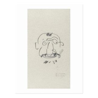 Gleichheit Lui-Meme (Bleistift Gebührnde Lautrec Postkarte