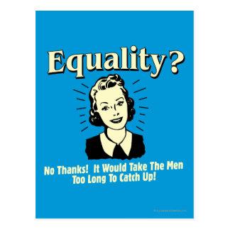 Gleichheit: Nehmen Sie Männer aufholen zu lang Postkarte