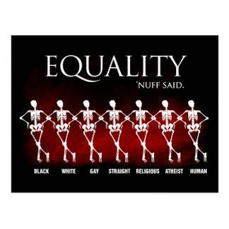Gleichheit. 'Nuff sagte Postkarte