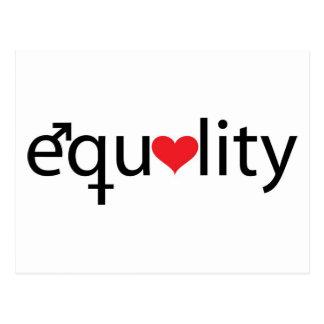 Gleichheit Postkarte
