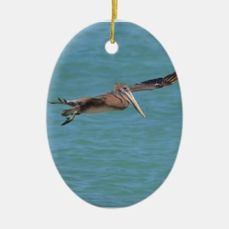 Gleitener Pelikan Ovales Keramik Ornament