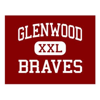 Glenwood - Braves - Mitte - Chatham Illinois Postkarte