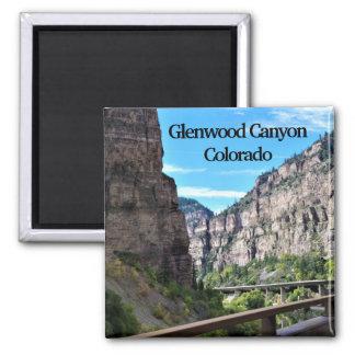 Glenwood Schlucht-Colorado-Magnet Quadratischer Magnet