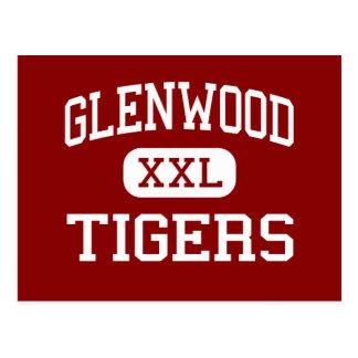 Glenwood - Tiger - Highschool - neues Boston Ohio Postkarte