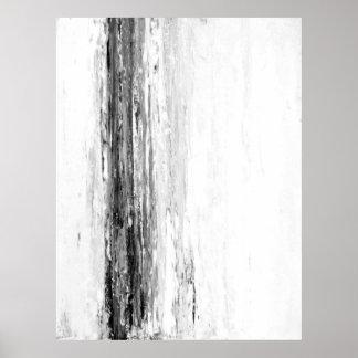 """""""Gletscher-"""" abstrakte Schwarzweiss-Kunst Poster"""