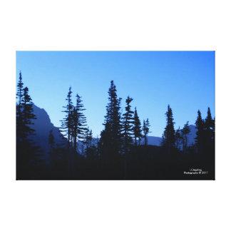 """Gletscher-Nationalpark-Morgen-Leinwand 51,72"""" x Leinwanddruck"""