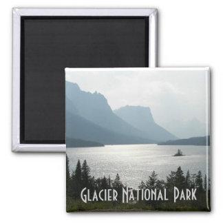 Gletscher-Nationalpark-Reise-Foto Quadratischer Magnet