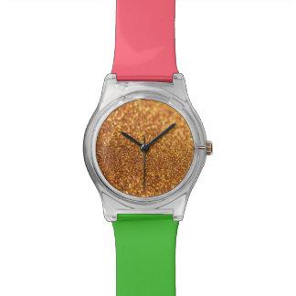 Glitter-Beschaffenheit Uhr