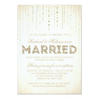 Glitter-Blick-Hochzeits-Empfangs-nur Einladung
