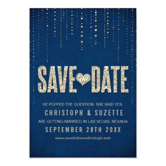 Glitter-Blick-Save the Date Mitteilung 12,7 X 17,8 Cm Einladungskarte