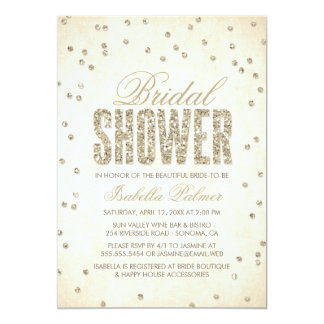 Glitter-Blickconfetti-Brautparty-Einladung 12,7 X 17,8 Cm Einladungskarte