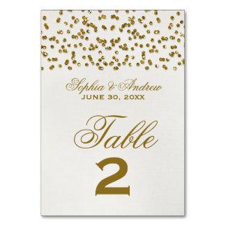 Glitter-Blickconfetti-Wedding Tischnummer-Karte