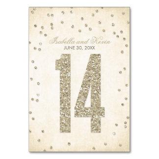 Glitter-Blickconfetti-Wedding Tischnummern - 14