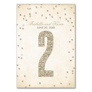 Glitter-Blickconfetti-Wedding Tischnummern - 2