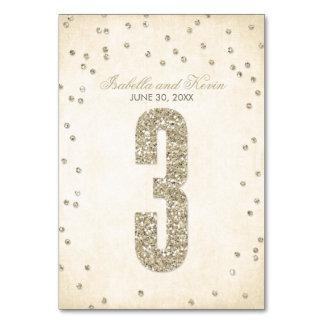 Glitter-Blickconfetti-Wedding Tischnummern - 3
